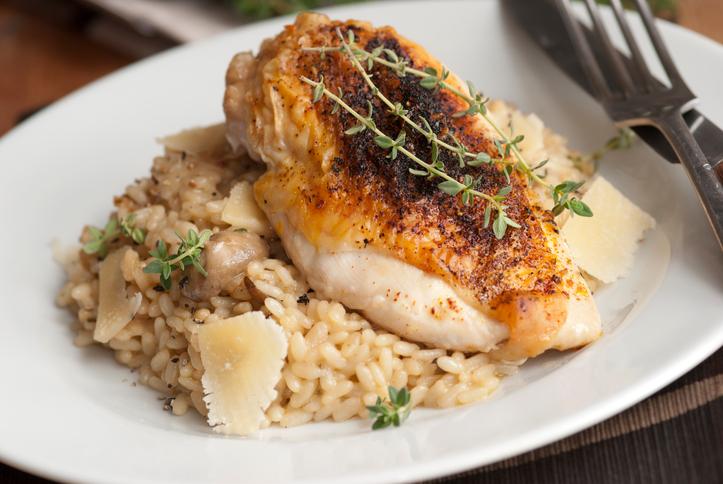Chicken Roulade Risotto Recipe