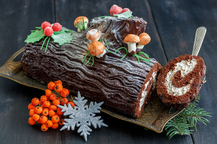 Hazelnut Log Cake Recipe